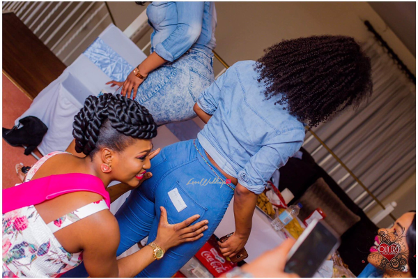 Nigerian Denim Themed Bridal Shower Adiat Friend LoveWeddingsNG 4