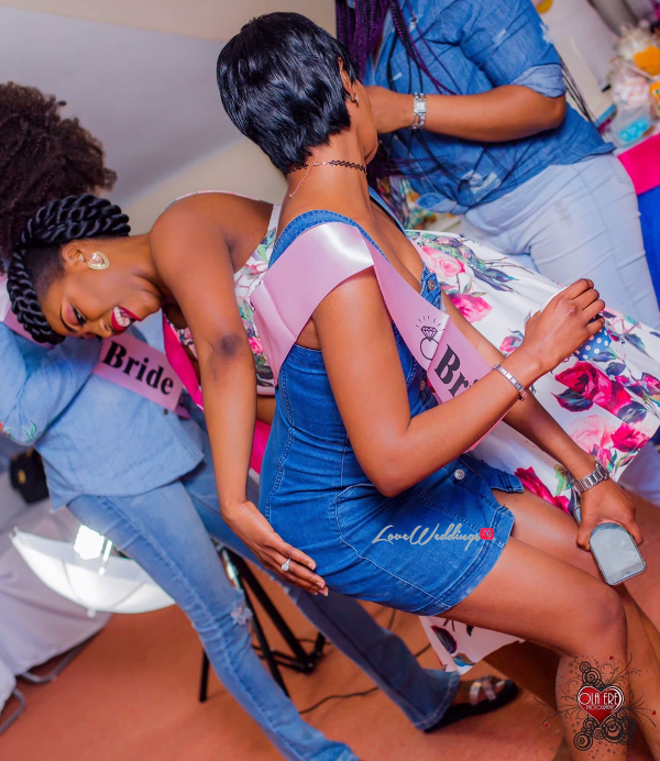 Nigerian Denim Themed Bridal Shower Adiat Friend LoveWeddingsNG 5
