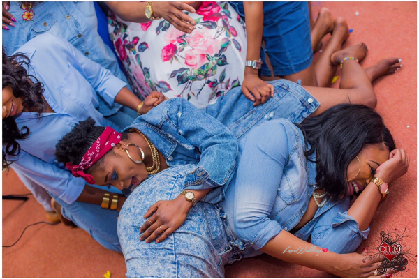 Nigerian Denim Themed Bridal Shower Adiat Friends LoveWeddingsNG