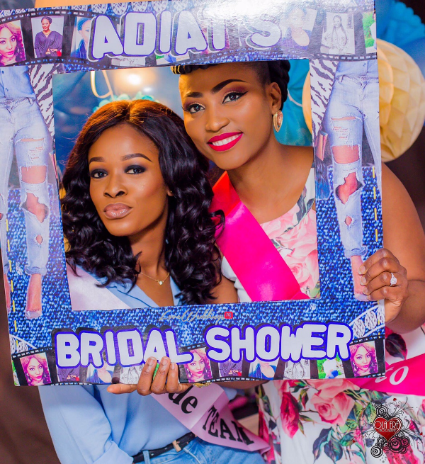 Nigerian Denim Themed Bridal Shower Adiat Insta Photo Frame LoveWeddingsNG