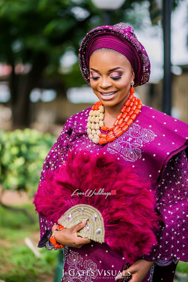 Nigerian Traditional Bride Wanni Fuga and Sam Wabara LoveWeddingsNG