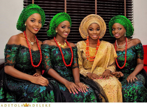 Nigerian Traditional Bride and Aso Ebi Ladies 9.22 Photography LoveWeddingsNG