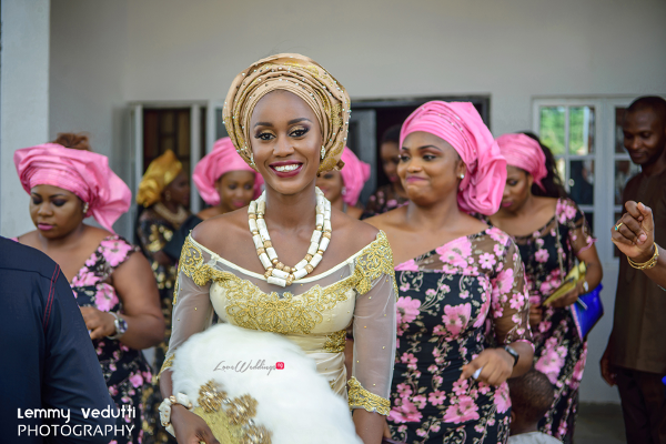 Nigerian Traditional Bride and Aso Ebi Ladies Dr. Chioma & Dr. Onyedika Lemmy Vedutti Photography LoveWeddingsNG 5