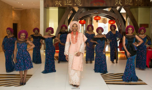 Nigerian Traditional Bride and Aso Ebi Ladies Libran Eye Photography LoveWeddingsNG