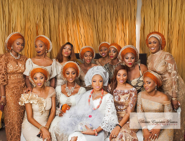 Traditional Brides & Their 'Aso Ebi' Ladies keep slaying