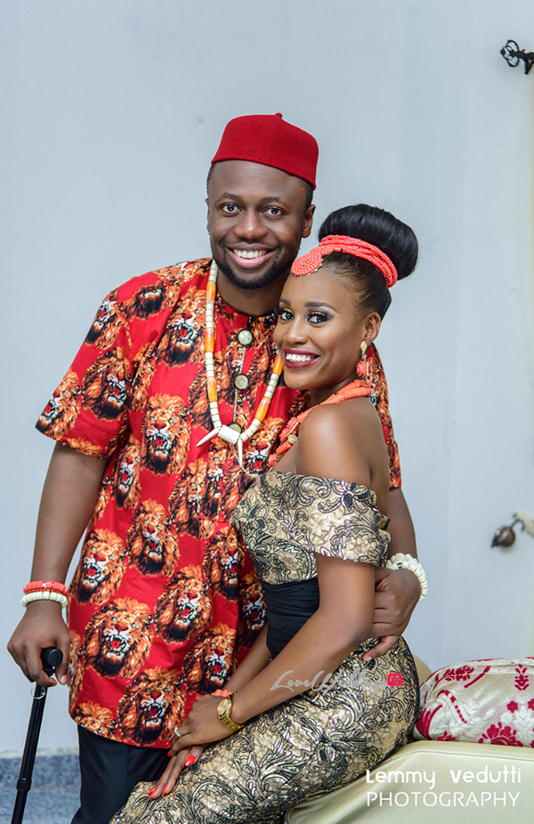 Nigerian Traditional Bride and Groom Dr. Chioma & Dr. Onyedika Lemmy Vedutti Photography LoveWeddingsNG 1