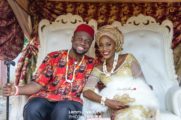 Nigerian Traditional Bride and Groom Dr. Chioma & Dr. Onyedika Lemmy Vedutti Photography LoveWeddingsNG 3