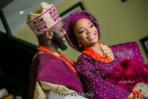 Nigerian Traditional Bride and Groom Wanni Fuga and Sam Wabara LoveWeddingsNG 2