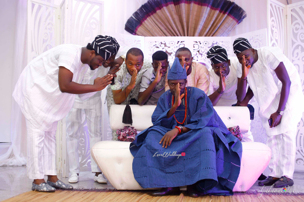 Nigerian Traditional Groom and Friends Tolulope weds Tolulope Wehdone sir Ijalana Oke LoveWeddingsNG