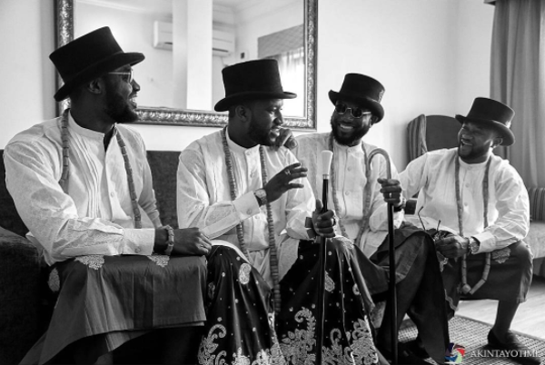 Nigerian Traditional Grooms and their groomsmen are not smiling!!!