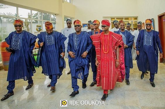 Nigerian Traditional Groom and Groomsmen Jide Odukoya Photography LoveWeddingsNG