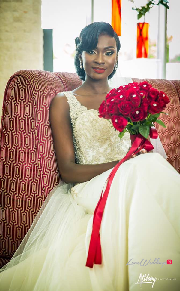 Nigerian Vow Renewal Wedding Bride and Bouquet Fatou and Obi LoveWeddingsNG