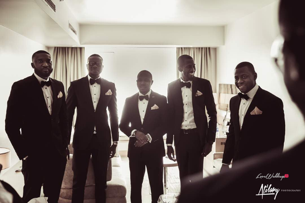 Nigerian Vow Renewal Wedding Groom and Groomsmen Fatou and Obi LoveWeddingsNG