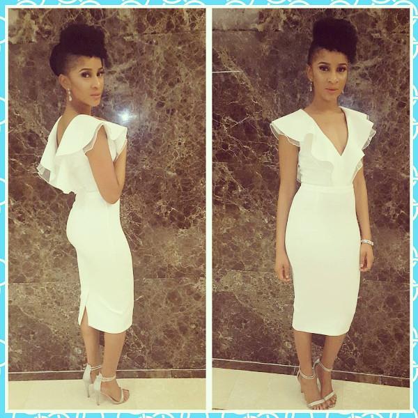 Adesua Etomi Nigerian Wedding Guest Style White Inspiration LoveWeddingsNG