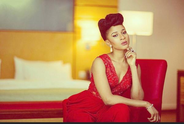 Adesua Etomi Red Jumpsuit Nigerian Wedding Guest Style Inspiration LoveWeddingsNG 2