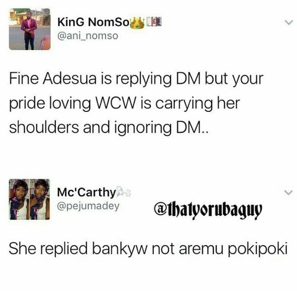 Adesua Etomi and Banky W Engagement Story Memes LoveWeddingsNG King Nomso Reply DM