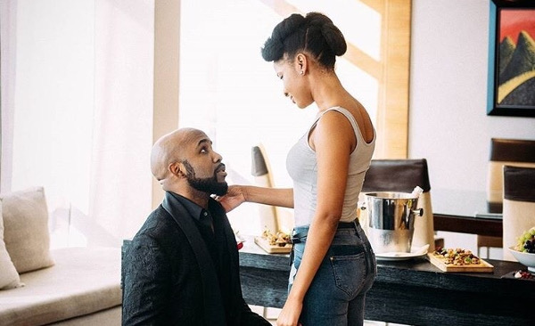 Adesua Etomi and Banky Wellington Engaged LoveWeddingsNG