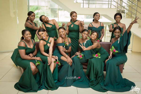 We love these Nigerian Mismatched Bridesmaids | Nigerian Wedding Trend