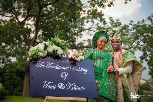 Temi & Kehinde's Nature themed traditional wedding