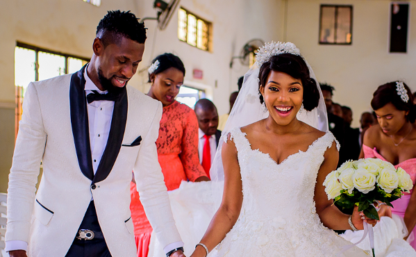 Monica & Bright's White Wedding | Jide Oketonade Photography