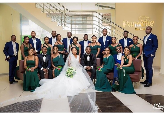 What We Loved About Temi & Kehinde's Green Nigerian Wedding | 2706 Events