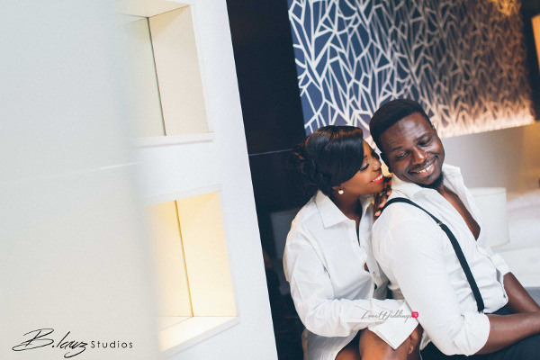 We love Ope & Tunji's matching tux pre-wedding outfit | B.Lawz Studio