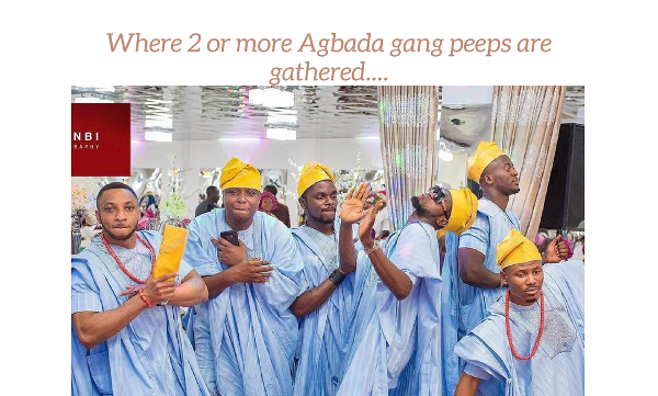 The Atunbi Experience giving us Nigerian wedding meme material since 2014