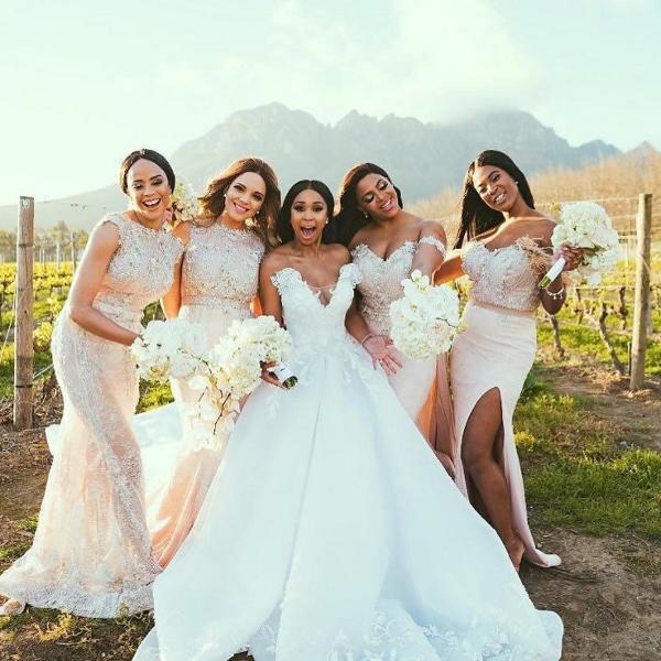 Minnie Dlamini Quinton Jones Lavish White Wedding In Cape Town South Africa
