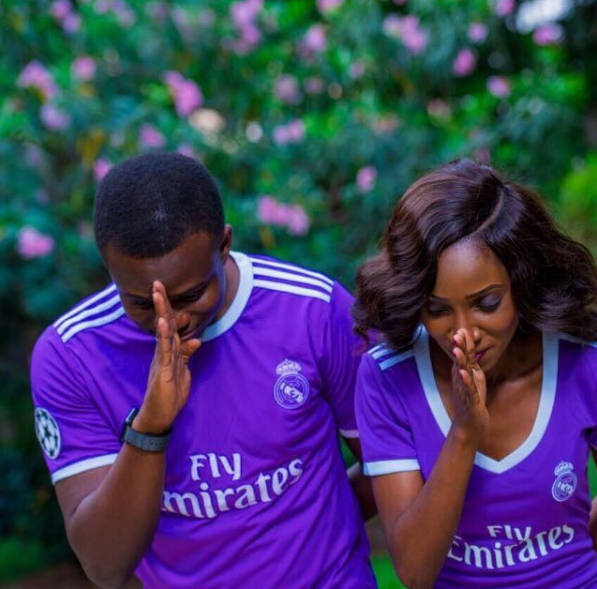 4c755f3a32b Nimo and Sadiq joined the purple team with their customised football jerseys