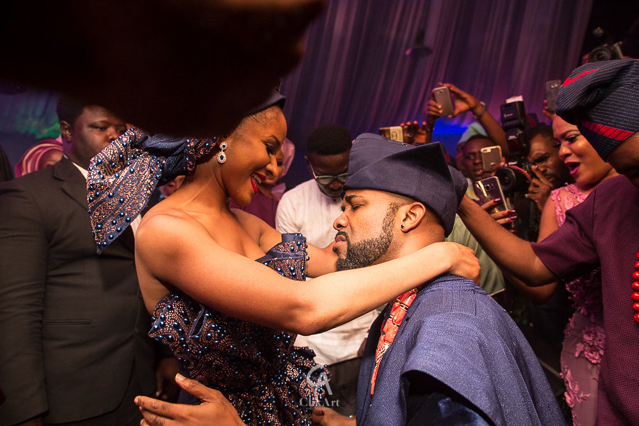 Happy Tradiversary Mr Banky & Mrs Adesua Wellington