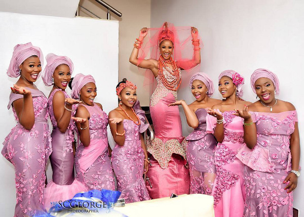 It's #BAAD17 time! First Photos from Adesua Etomi & Banky Wellington's Traditional Wedding