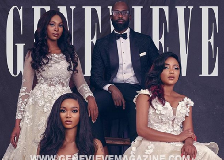Nigerian Bridal Designer, Mai Atafo and his Heart Muses cover Genevieve Magazine's December 2017 Issue