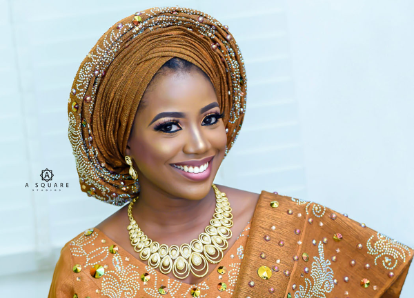 Blinged out Nigerian Traditional Bridal Inspiration | ASquare Studios