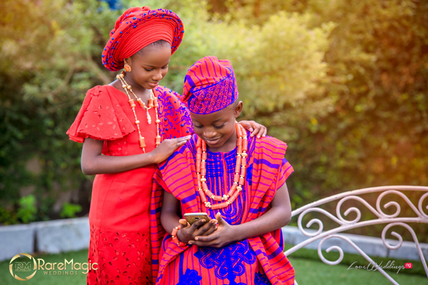 Little Traditional Royal Bride & Groom Styled by Ceomania Alaso Oke for Children's Day 2018