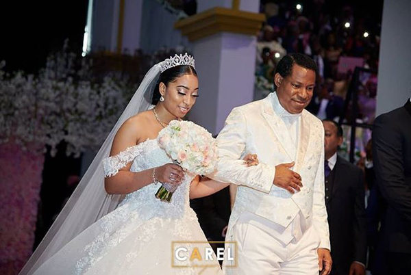 Pastor Chris Oyakhilome's daughter, Sharon weds Phillip Frimpong