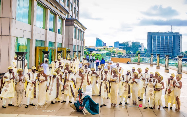Go Big or Go Home! This Aso Ebi Squad featuring Davido is LIT! | #NBWithLove