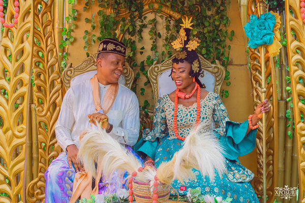 Bethel's colorful traditional Nigerian bridal outfits are stunning!