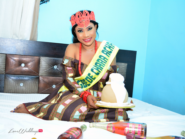 Deborah had a traditional 'Nwa Mgbede' themed bridal shower in Abia