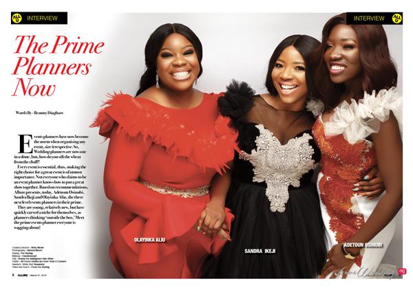 Event Planners, Sandra Ikeji, Olayinka Aliu & Adetoun Osunubi cover Vanguard Allure
