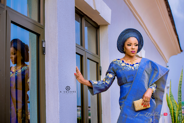 This traditional bridal look has us feeling all shades of blue