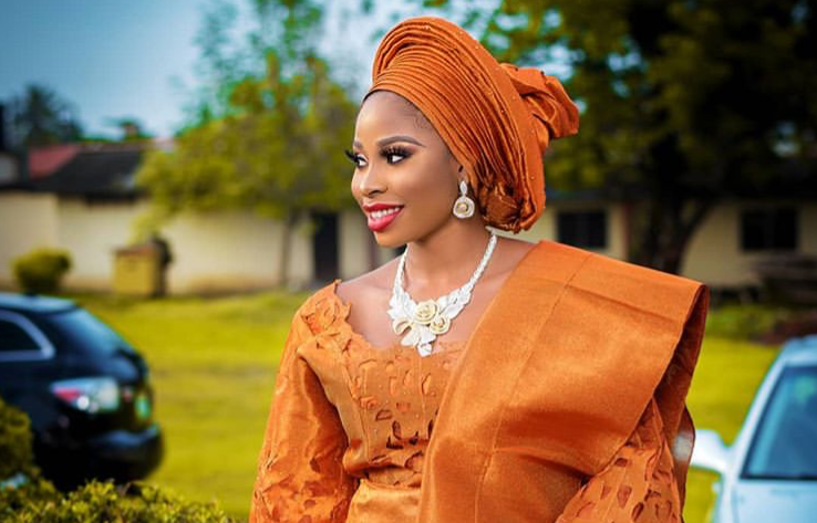 Orange is the latest trending colour for Nigerian traditional brides