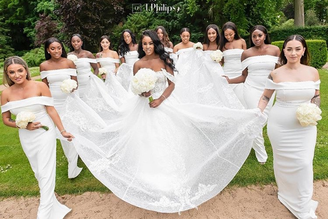 20 bridesmaids who wore white | African Wedding Trend