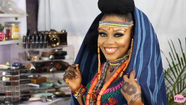 Watch this Fulani Bridal Makeup tutorial by Faari by Sisi Ope