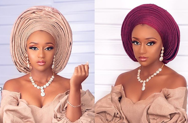 Nude or burgundy, which gele are you feeling for this trad look?
