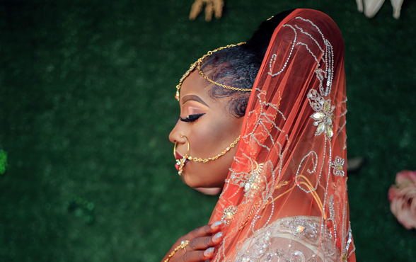 Josephine's traditional bridal look is truly African