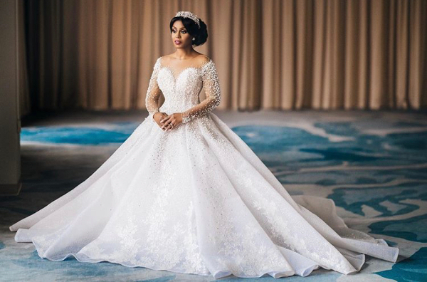 Dream wedding dress: a corset dress featuring crystals & pearls   #LWNGLoves