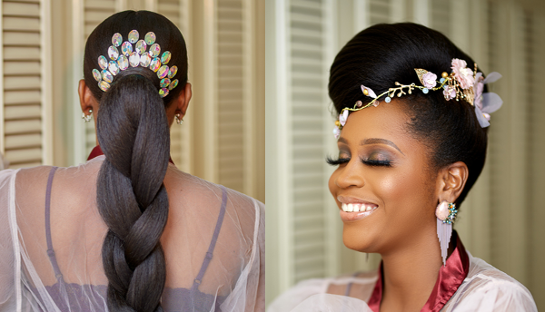 Two bridal hairstyles perfect for the ceremony & reception