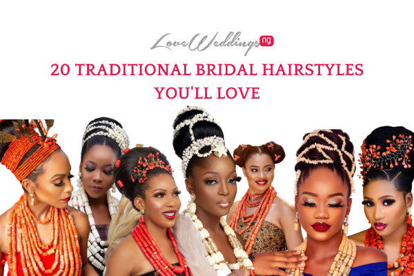 20 African traditional bridal hairstyles with coral & ivory beads
