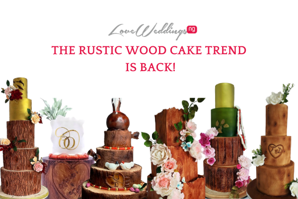 The rustic wood cake trend is back!