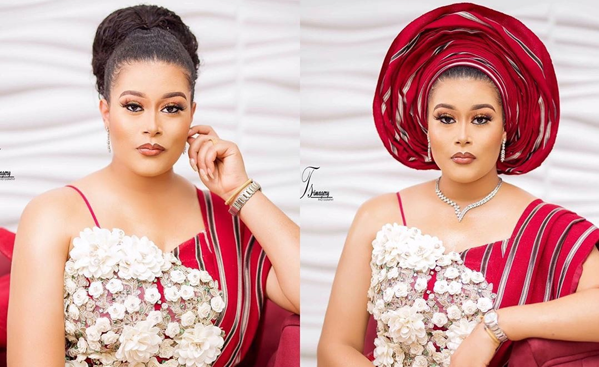Adunni Ade's look is perfect for the modern-day Yoruba traditional bride